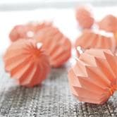 Guirlande et objet lumineux Xmas Living Glass PAPER FLOWER - Guirlande Lumineuse Origami Corail LED L2,75m