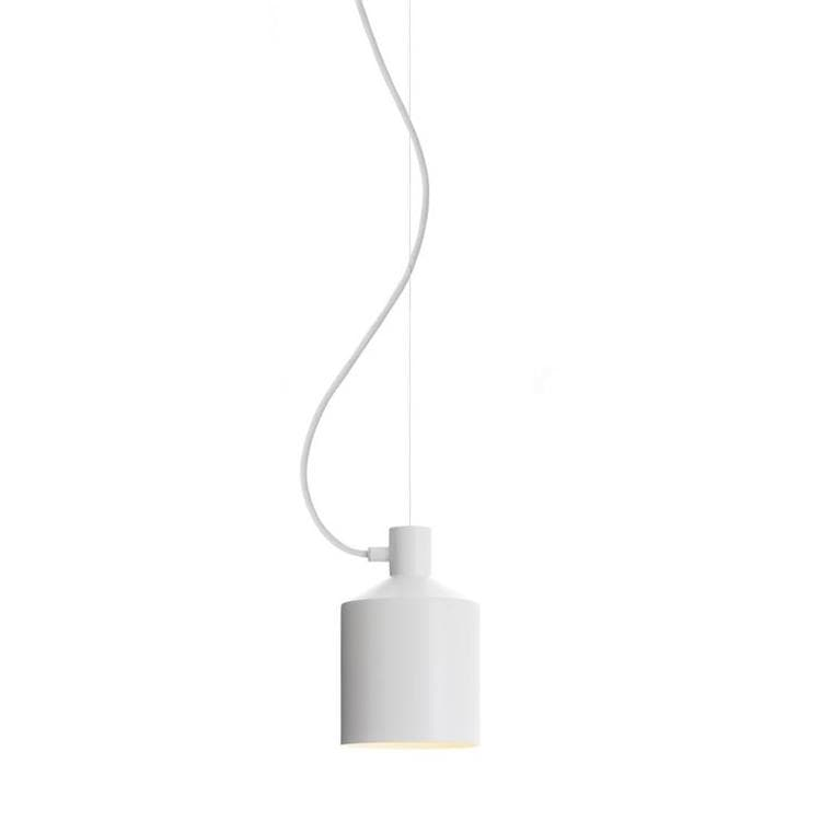 SILO Blanc Suspension Métal H23cm