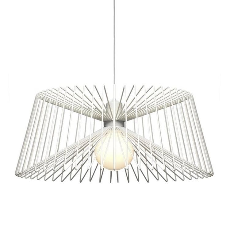 THREE Blanc Suspension Acier Ø49cm