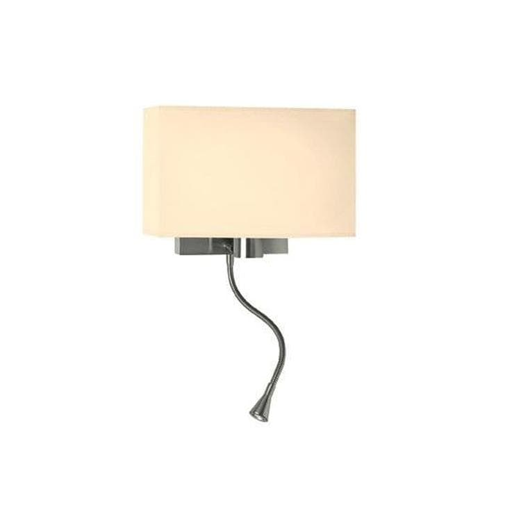 WEEKEND Beige/crème Applique + 1 Flexible LED Nickel L32cm