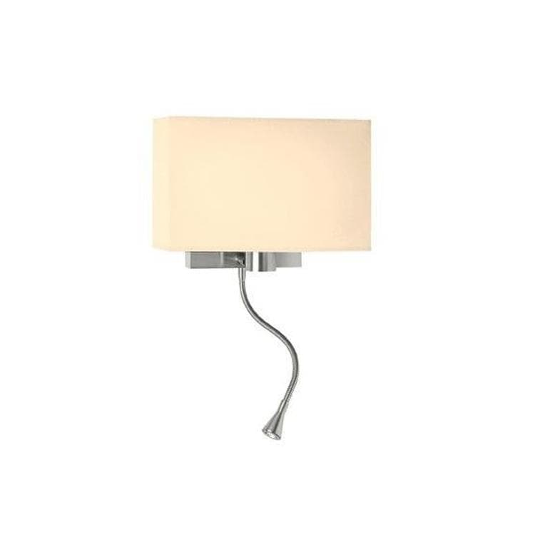 WEEKEND Beige/crème Applique + 1 Flexible LED Chrome L32cm