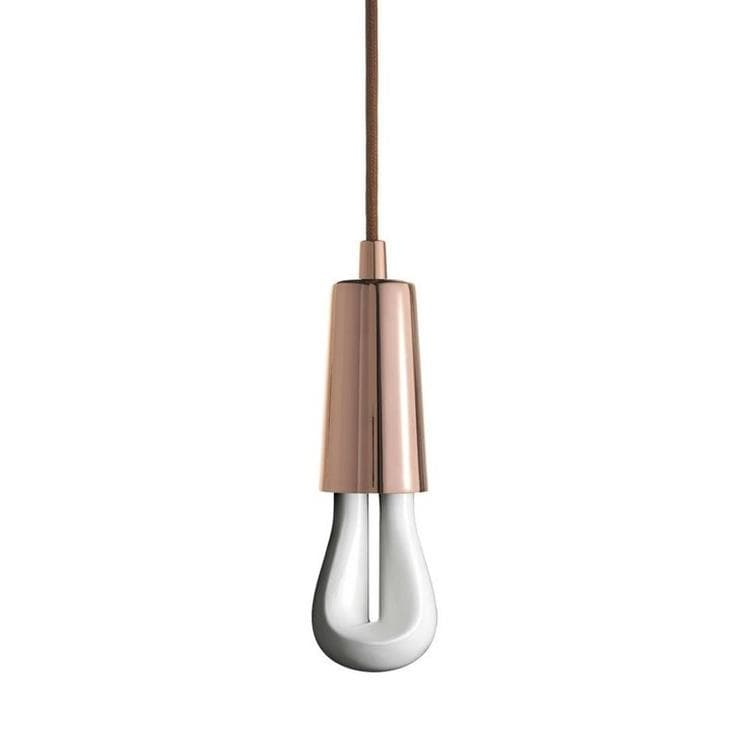 LED 002 Cuivre Suspension avec Ampoule LED 002 H9,7cm