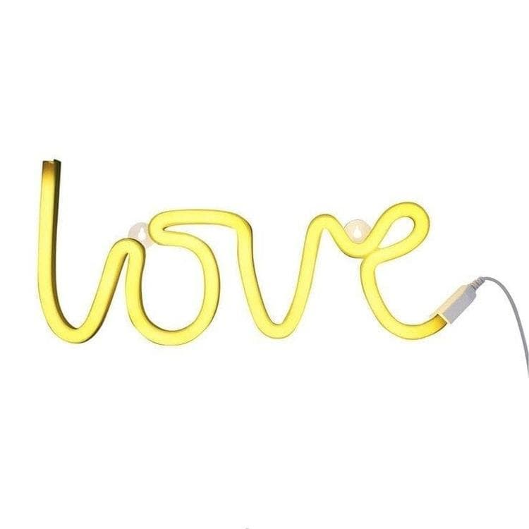 NEON LOVE Jaune Applique LED Love L38cm