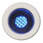 Spot Brilliant COSA - Kit de 10 Spots ronds LED Bleu encastrables Blanc Ø1,5cm
