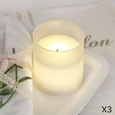 guirlande et objet lumineux Best Season LED CANDLE GLASS - Lot de 3 Bougies en verre LED H10cm