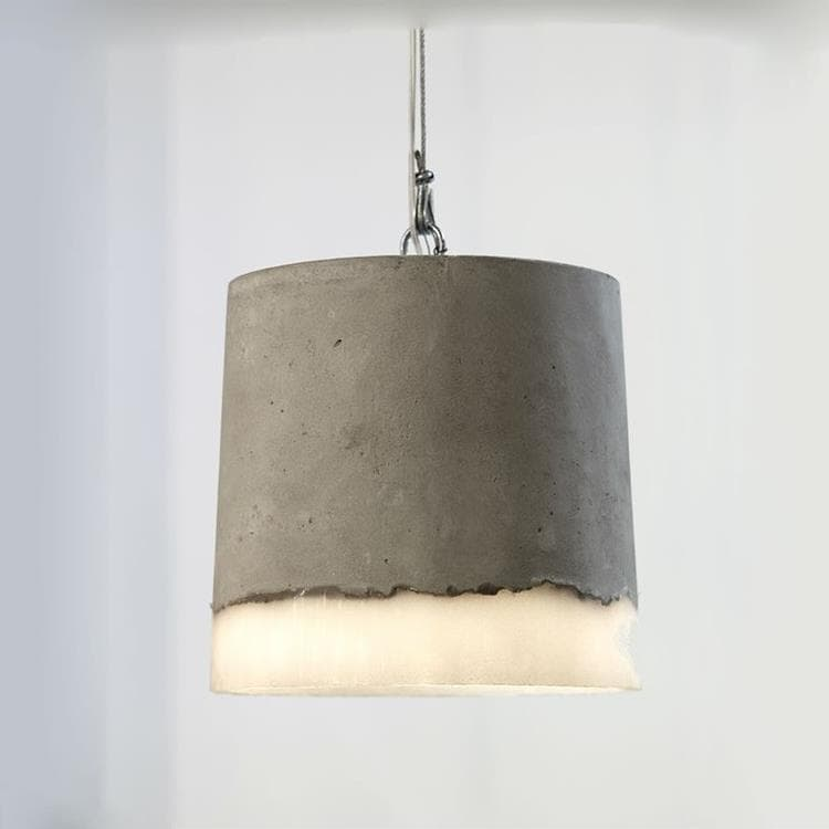 CONCRETE gris Suspension Béton/Silicone Ø18,5cm