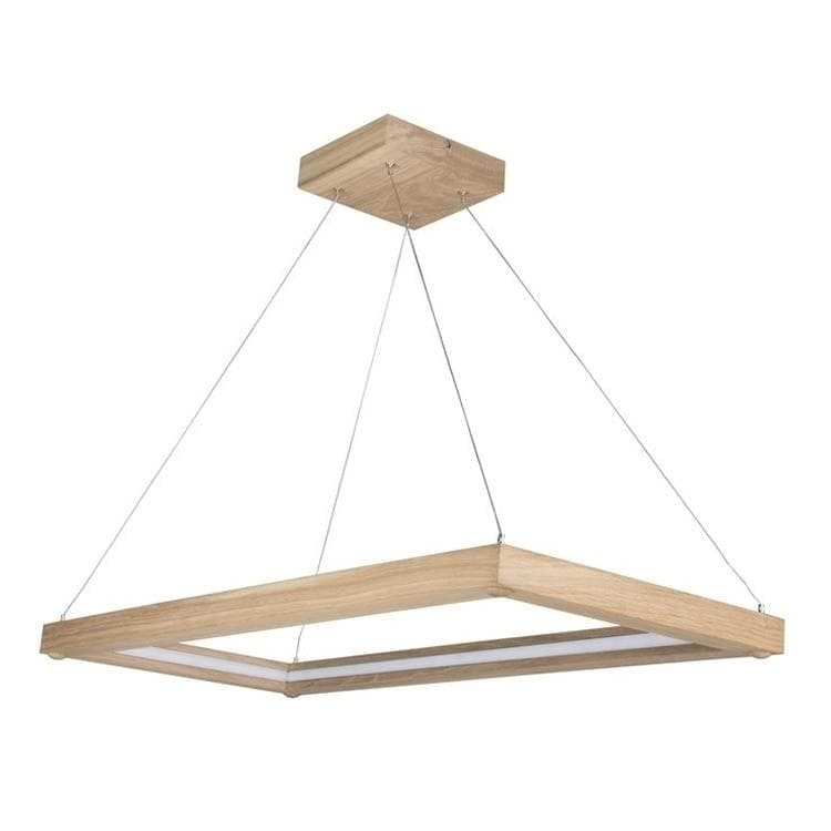 LEGNO chêne Suspension LED rectangulaire Bois L84cm