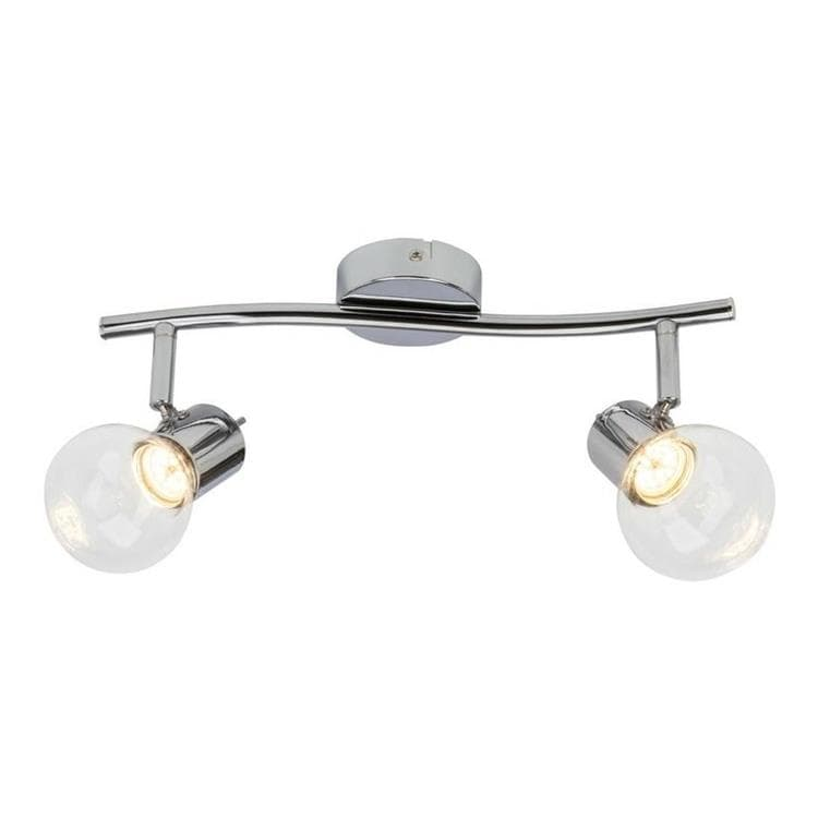 Spot Brilliant - Celest - Barre 2 Spots Orientables Chrome Et Verre Led L35cm (photo)
