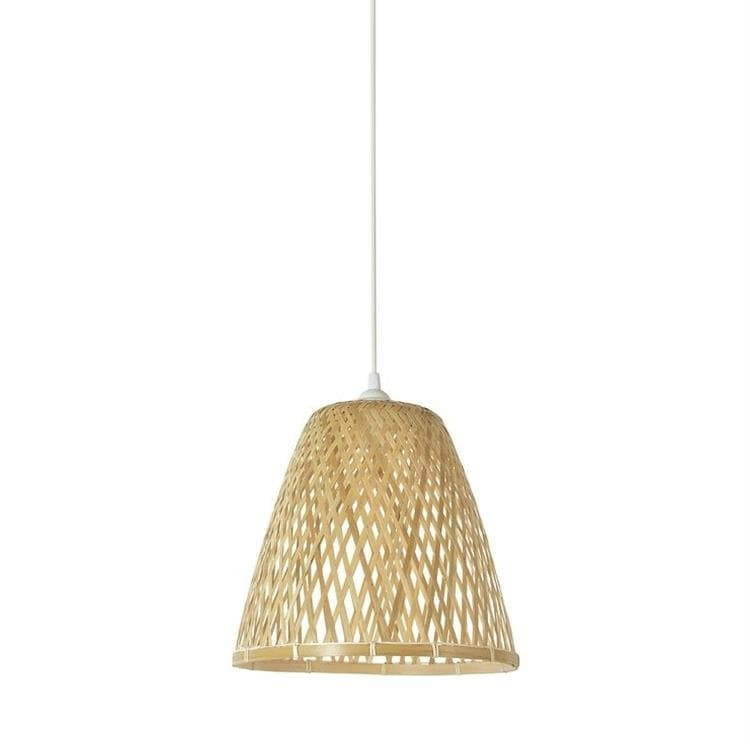 KAMI naturel Suspension conique en bambou Ø30cm