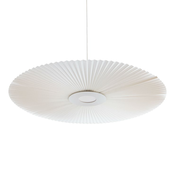 CARMEN LARGE Blanc Suspension LED Métal/Polyester Ø120cm