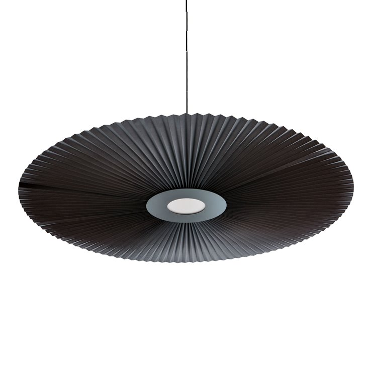 CARMEN LARGE gris ardoise Suspension LED Métal/Polyester Ø120cm