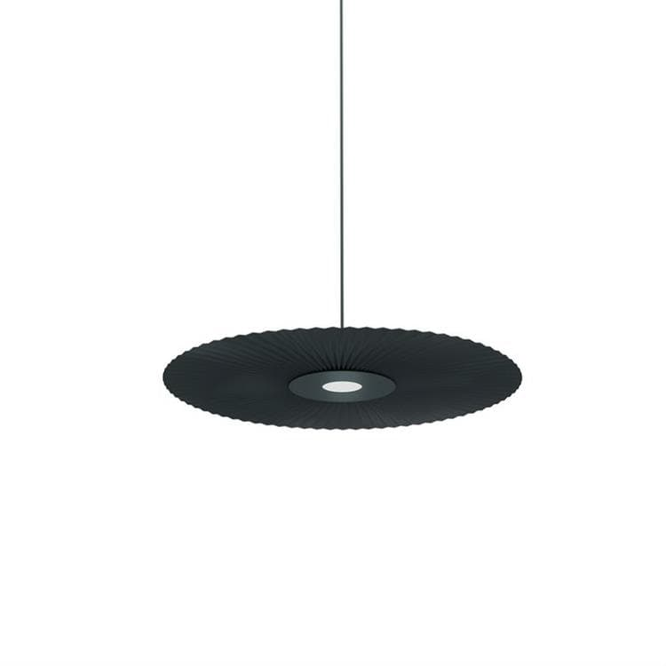 CARMEN SMALL gris ardoise Suspension LED Métal/Polyester Ø50cm