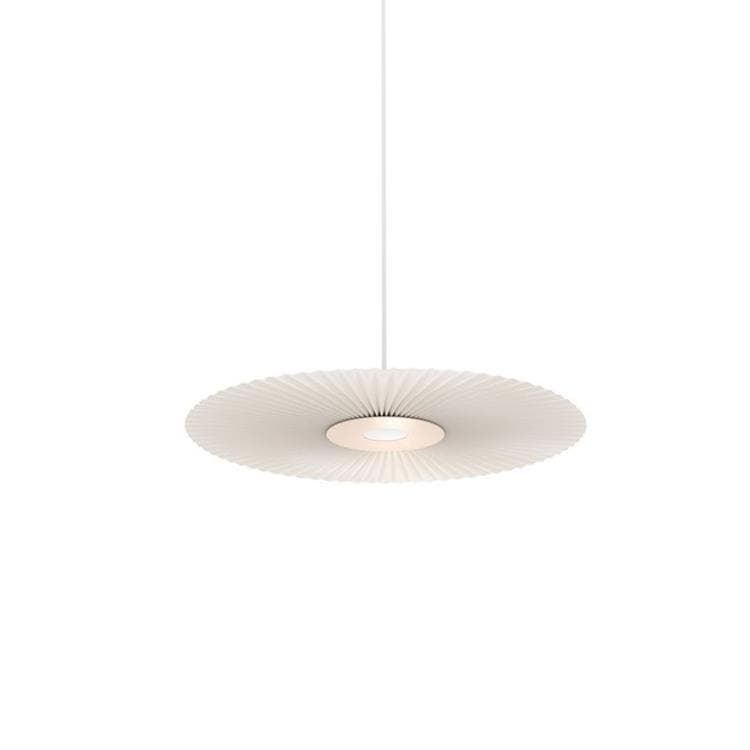CARMEN SMALL rose pâle Suspension LED Métal/Polyester Ø50cm