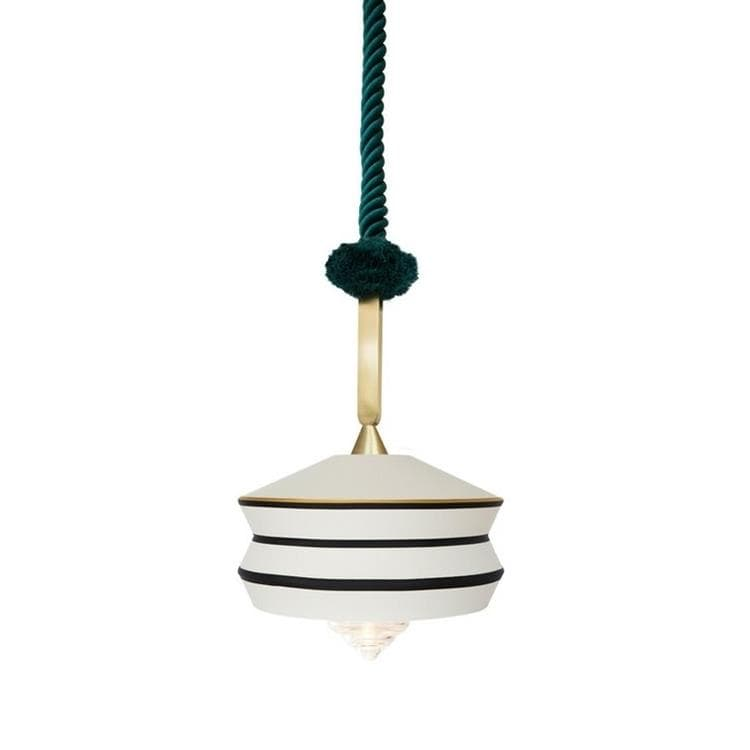 CALYPSO ANTIGUA OUTDOOR Blanc Suspension d'extérieur Textile/Verre Ø36cm