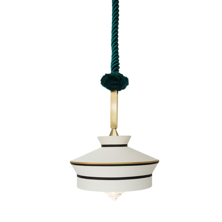 CALYPSO MARTINIQUE OUTDOOR Blanc Suspension d'extérieur Textile/Verre Ø36cm