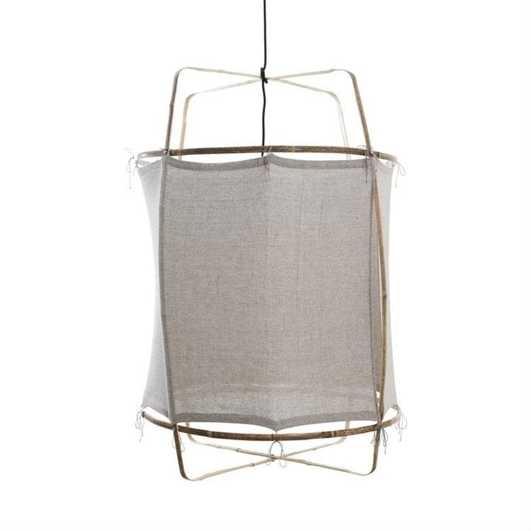 Z1 gris Suspension Bambou/Coton Recyclé Ø67cm