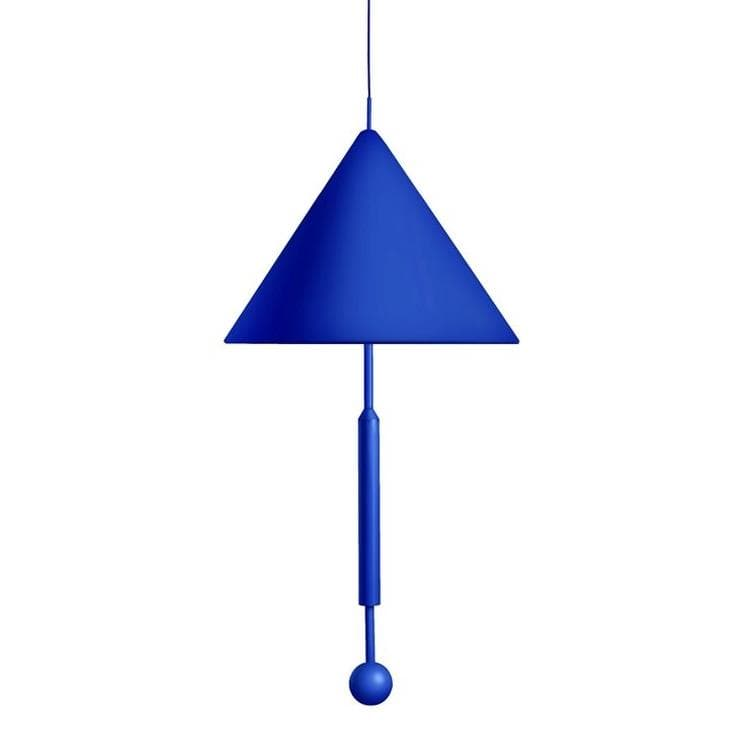 OBJECT OF DISCUSSION Bleu Suspension Tissu/Métal H165cm