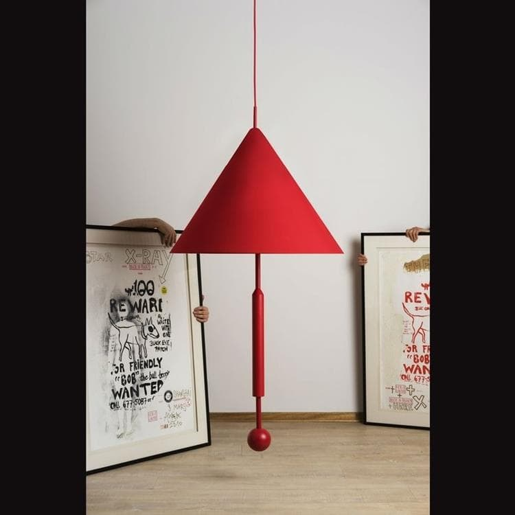 OBJECT OF DISCUSSION Rouge Suspension Tissu/Métal H165cm