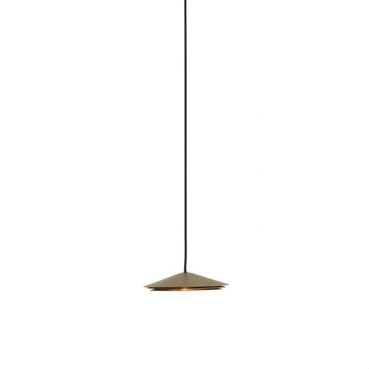 COLETTE champagne Suspension LED Métal Ø20cm
