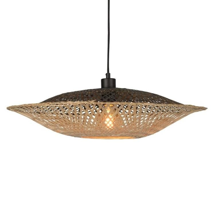 KALIMANTAN Noir et Naturel Suspension Bambou Ø60cm