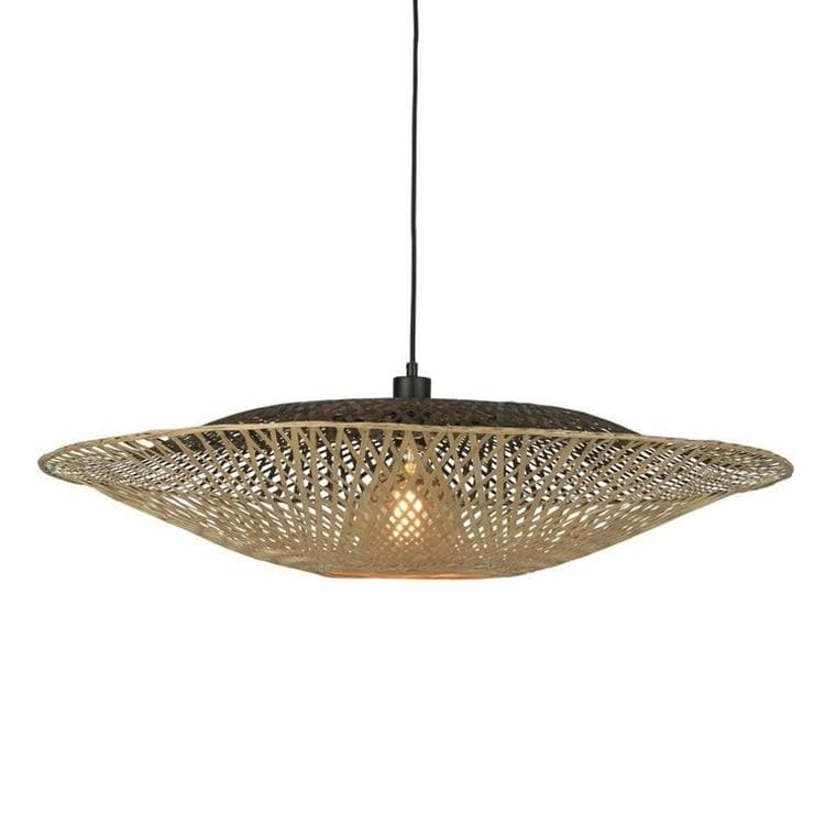 KALIMANTAN Noir et Naturel Suspension Bambou Ø87cm