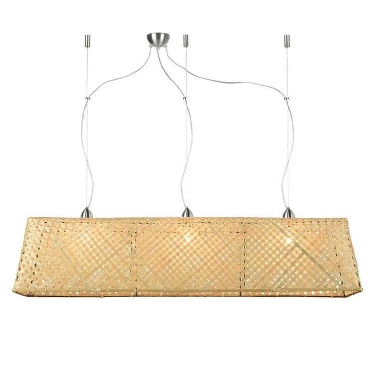 KOMODO naturel Suspension 3 lumières Bambou L130cm