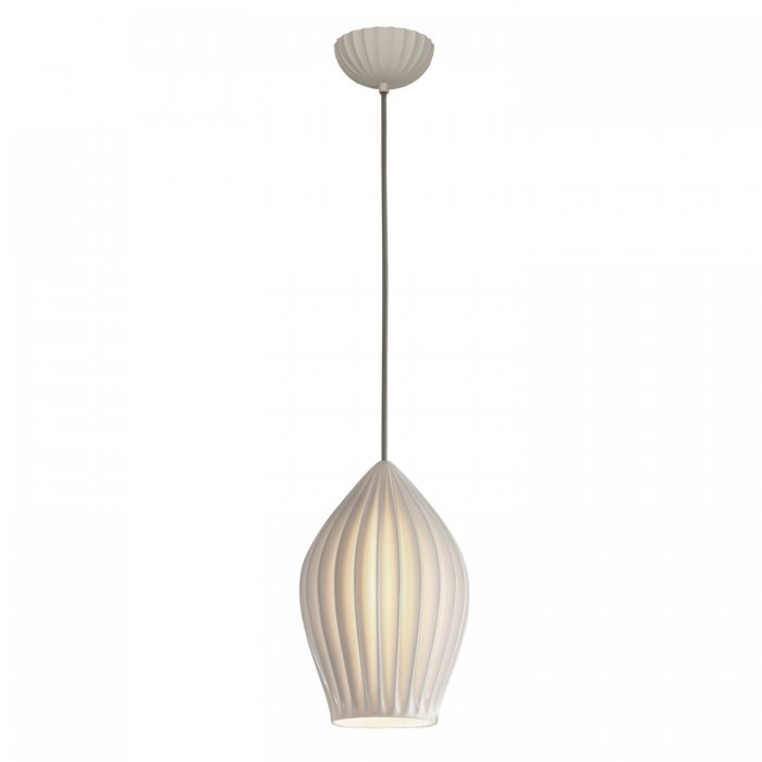 FIN Blanc Suspension Porcelaine Ø18cm