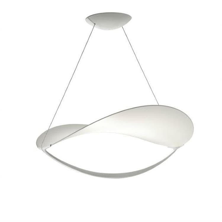 PLENA MY LIGHT Blanc Suspension LED variateur Bluetooth Métal/PVC Ø70cm