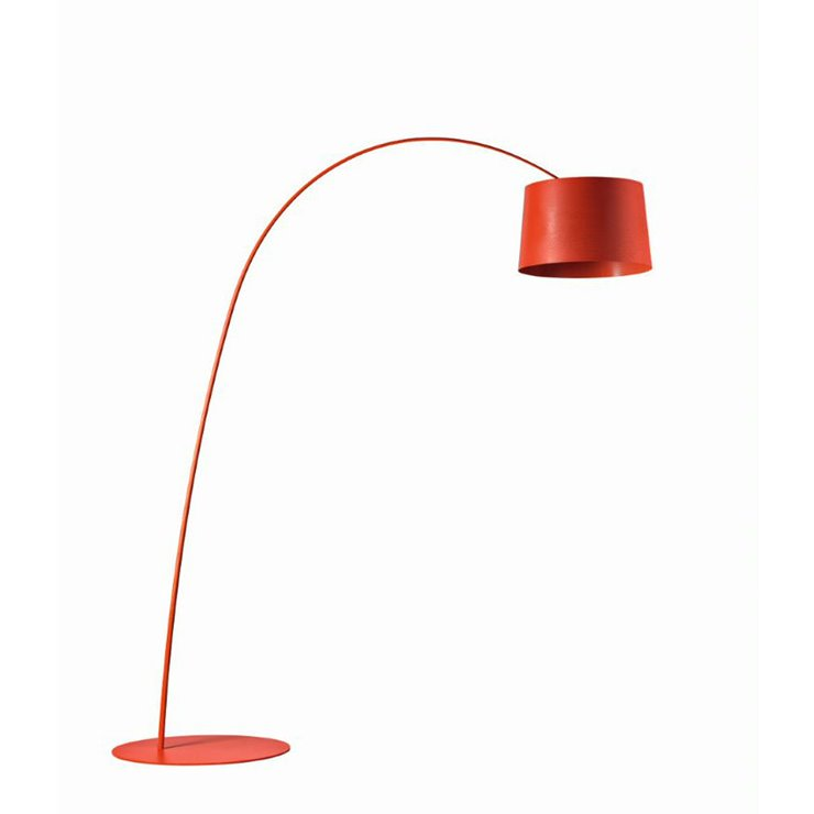 TWIGGY MY LIGHT rouge vermillon Lampadaire Arc LED variateur Bluetooth H215cm
