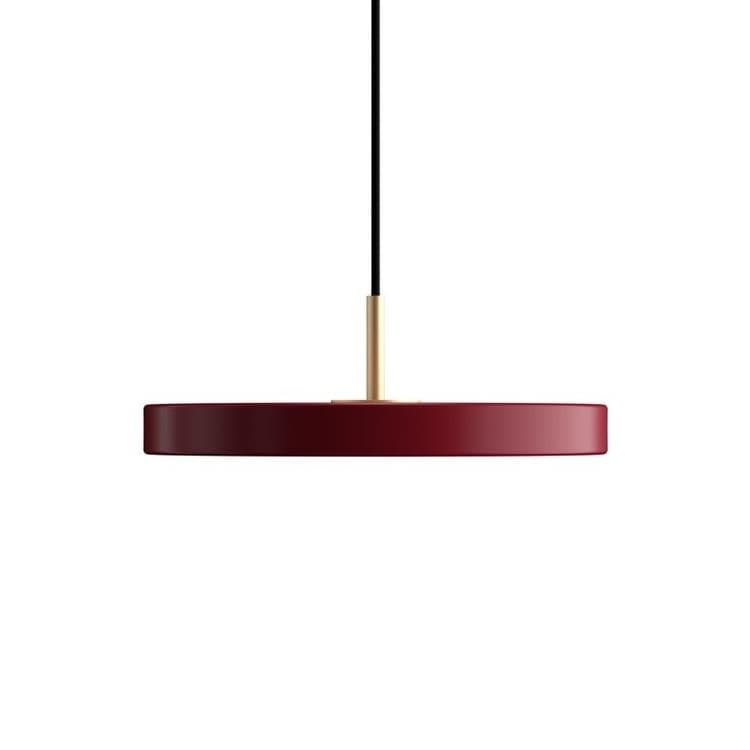ASTERIA MINI rouge rubis Suspension LED Acier/PMMA Ø31cm