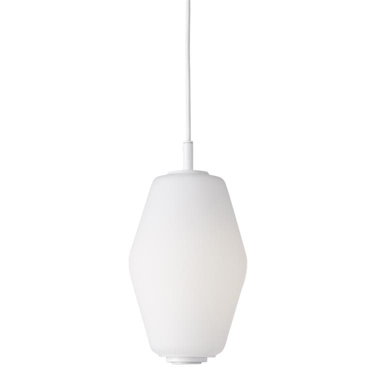 DAHL SMALL Blanc Suspension Verre/Métal H22cm