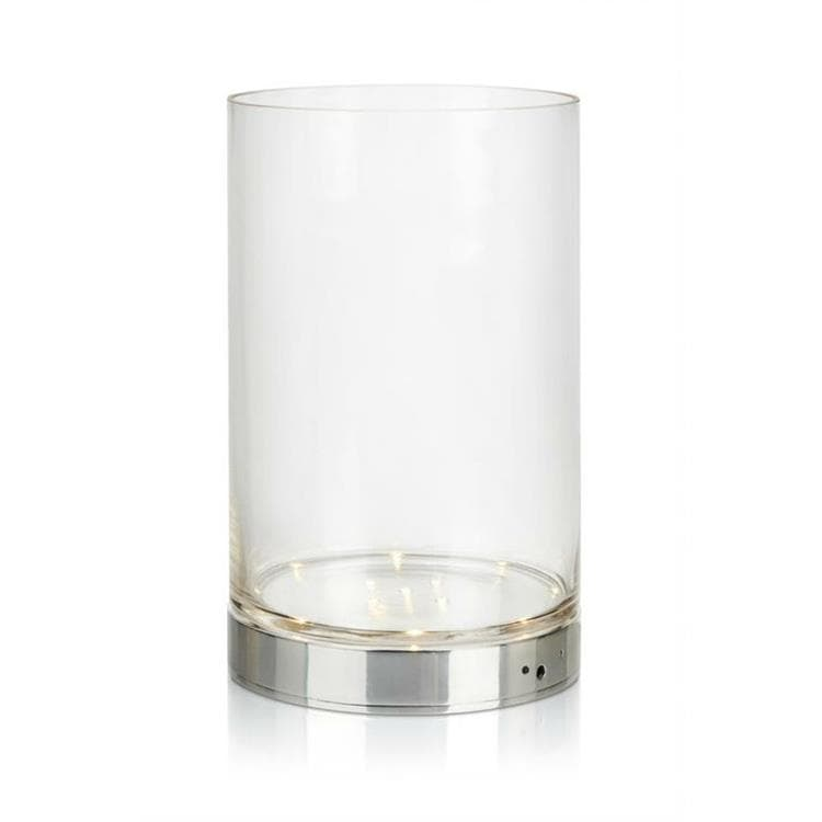 BOUQUET Transparent Vase lumineux LED rechargeable Verre H29cm