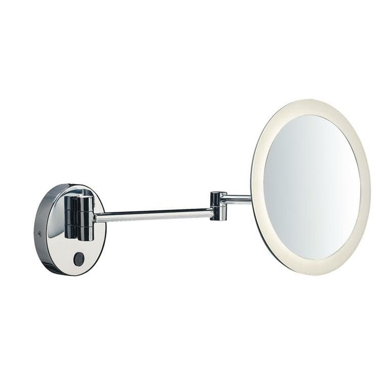 MAGANDA Chrome Miroir lumineux mural LED Ø21,6cm