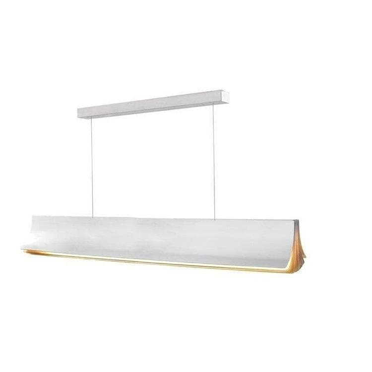 RESPIRO or blanc Suspension LED Aluminium L120cm