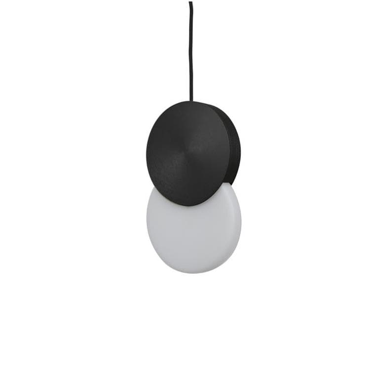 DUO Noir Suspension LED Acier laitonné H31cm