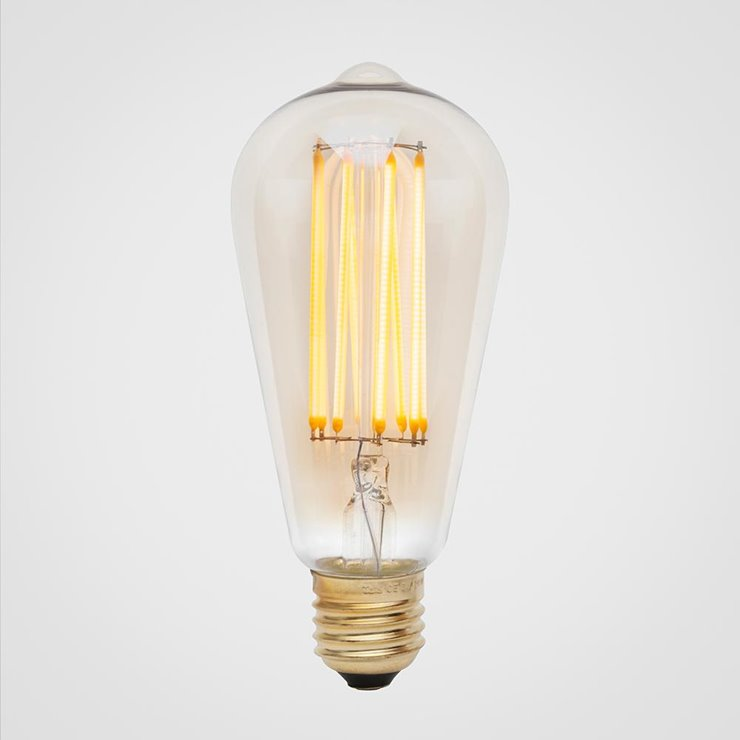 3W SQUIRREL CAGE  Ampoule LED filament Poire E27 Ø6.4cm 2200K 3W = 24W 240 Lumens Dimmable Ambrée