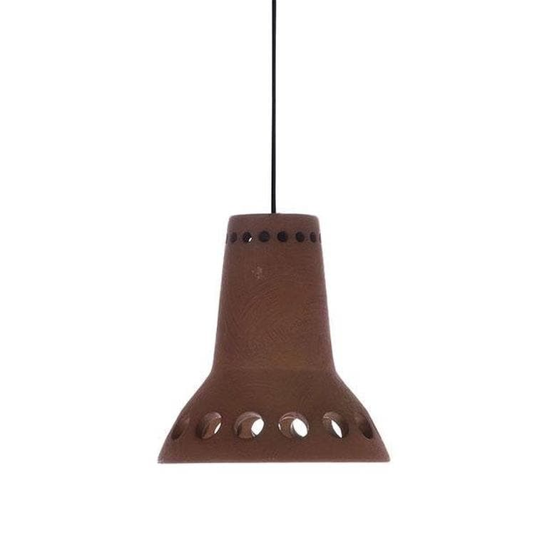 TERRACOTTA Marron Suspension Faïence Ø14cm