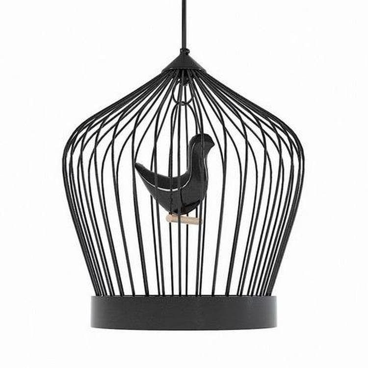 TWEE T noir satiné Suspension LED Cage H46cm