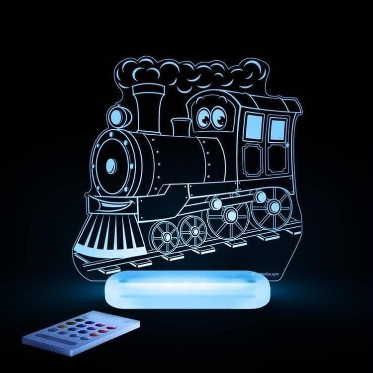 TRAIN Transparent Lampe-veilleuse LED H17cm