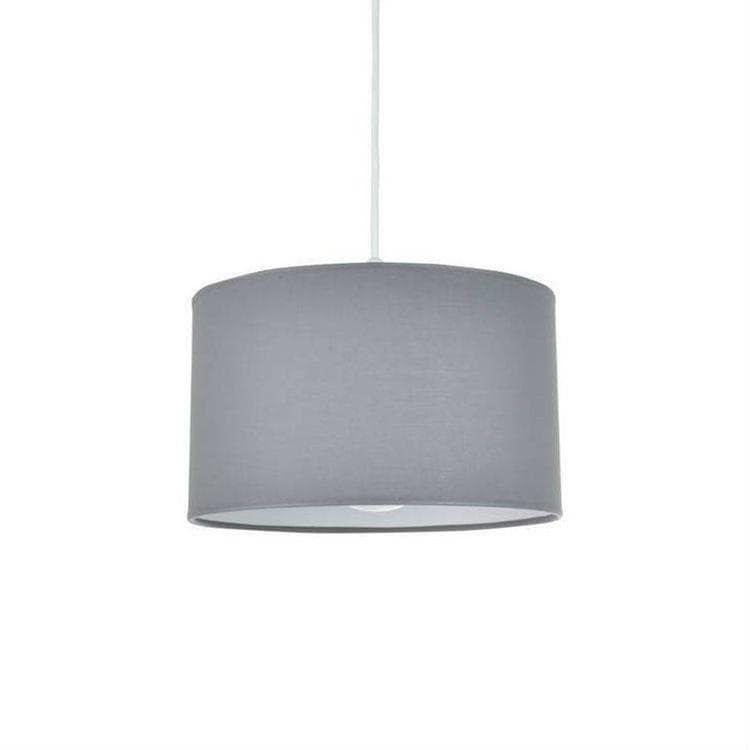 BULIGHT Gris Suspension De Salle De Bain Coton Ø30cm