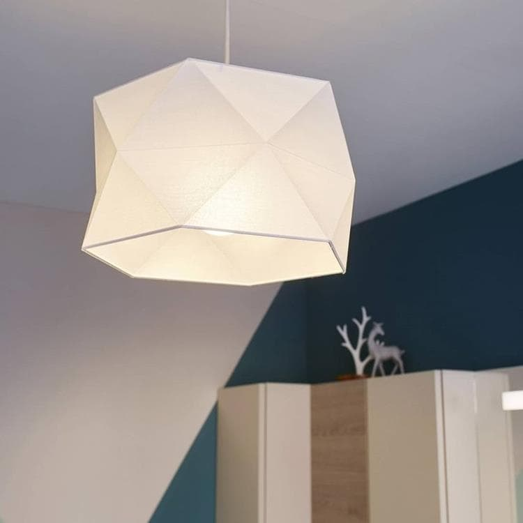 BULIGHT Blanc Suspension De Salle De Bain Coton Pliage Ø30cm