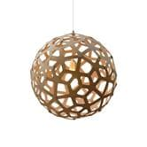 David Trubridge CORAL - Suspension Bois Naturel Ø40cm