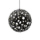 David Trubridge CORAL - Suspension Bois Noir Ø40cm