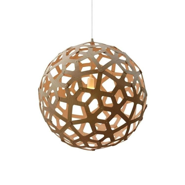 CORAL - Suspension Bois Naturel Ø40cm David Trubridge