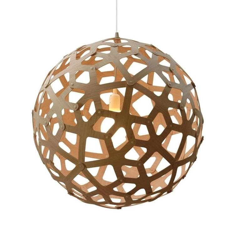 CORAL bois naturel Suspension Bois Ø80cm