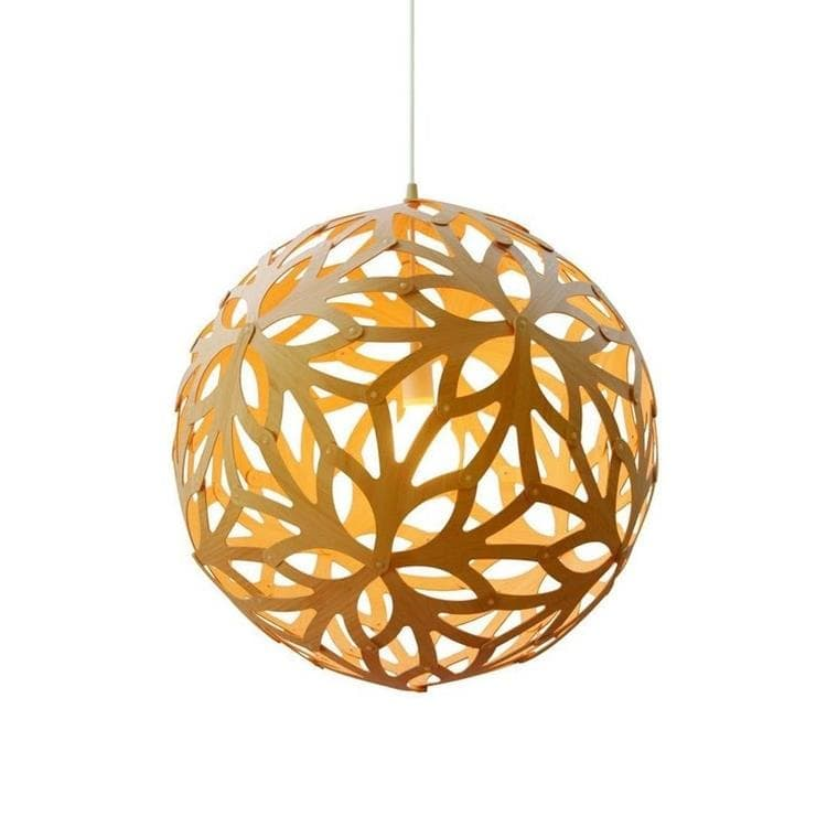 FLORAL bois naturel Suspension Bois Ø40cm