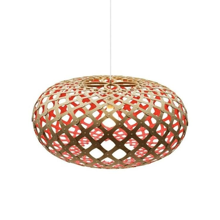 KINA Rouge Suspension Bicolore Bois Naturel Ø60cm