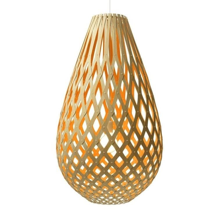 KOURA Orange Suspension Bicolore Bois Naturel H96cm