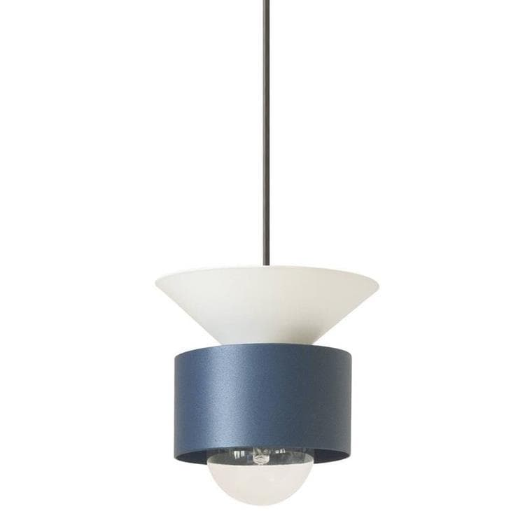 CELESTE Blanc Suspension Bleu Ø16cm