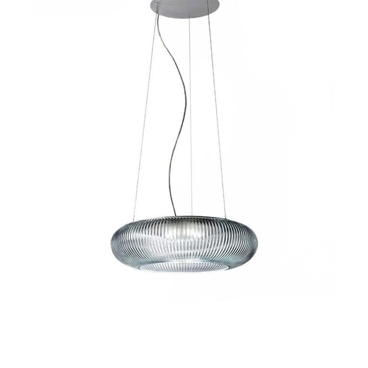 CANNETTATA Transparent Suspension LED Verre Ø42cm